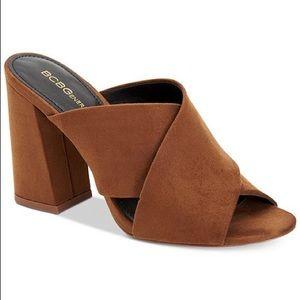 """BCBG """"Rachel Dream Microsuede"""" slide sandal heels"""
